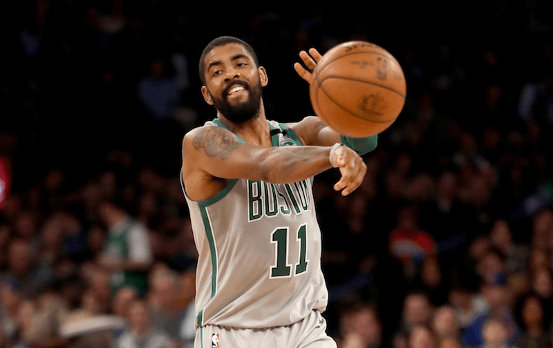 Kyrie Irving with the Celtics