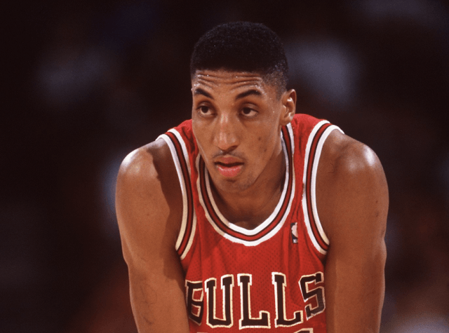 Scotty Pippen on the basketball court.