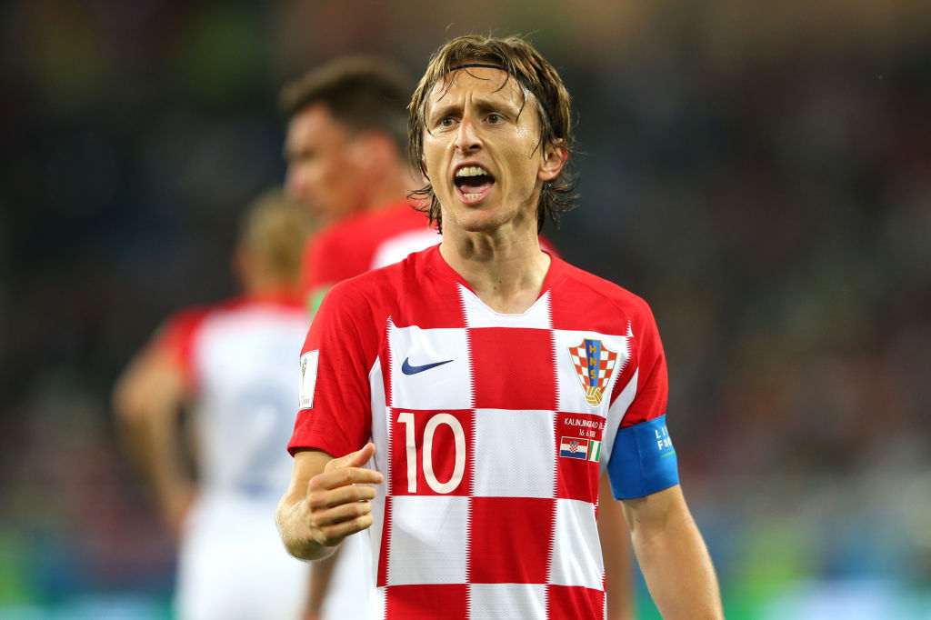 Luka Modric of Croatia celebrates after scoring a penalty for his team's second goal during the 2018 FIFA World Cup Russia group D match between Croatia and Nigeria at Kaliningrad Stadium on June 16, 2018 in Kaliningrad, Russia.