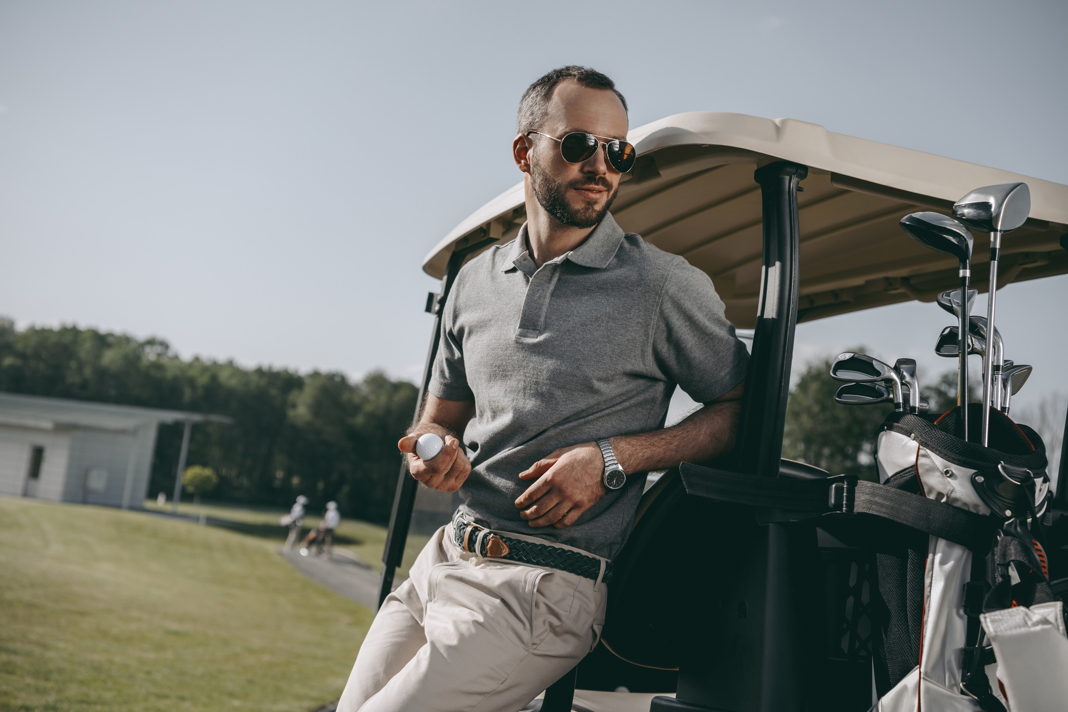 Stylish golfer