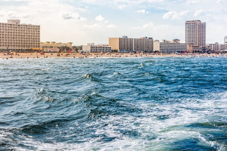Virginia Beach from the ocean