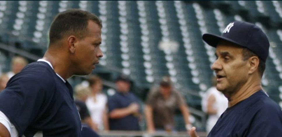 Alex Rodriguez and Joe Torre when both were with the Yankees