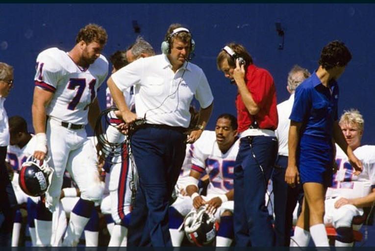 Bill Parcells coaching the New York Giants