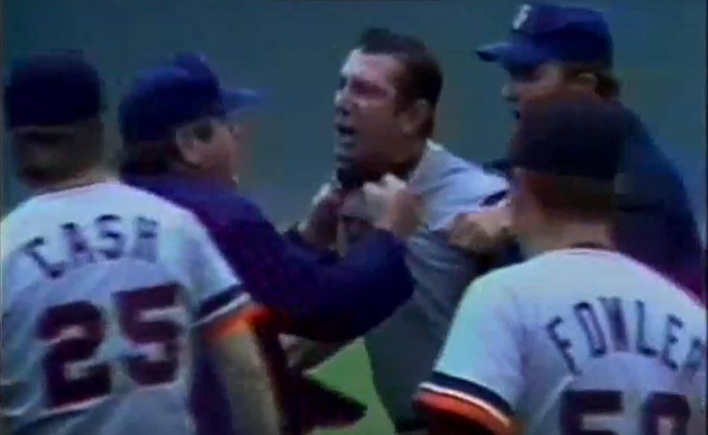 Tigers' skipper Billy Martin was livid after Bert Campaneris threw his bat