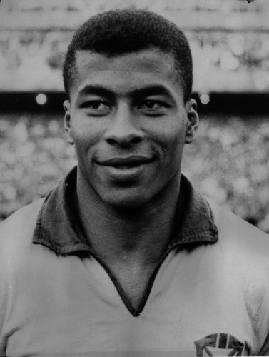 Brazilian footballer Jairzinho (Jair Ventura Filho), who scored in every round of the 1970 World Cup, which Brazil won