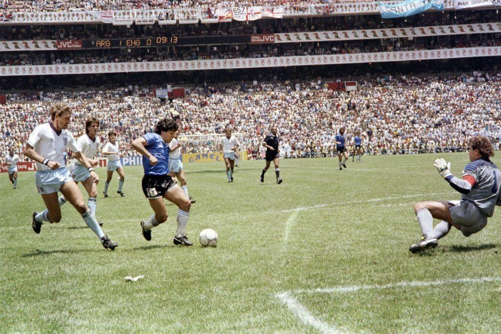Diego Maradona Argentina soccer vs. England 1986