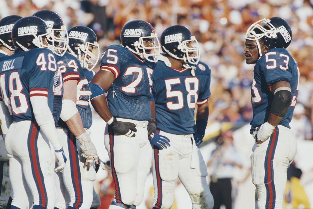 New York Giants linebacker Harry Carson