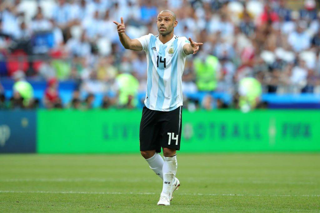 Javier Mascherano of Argentina during the World Cup 2018