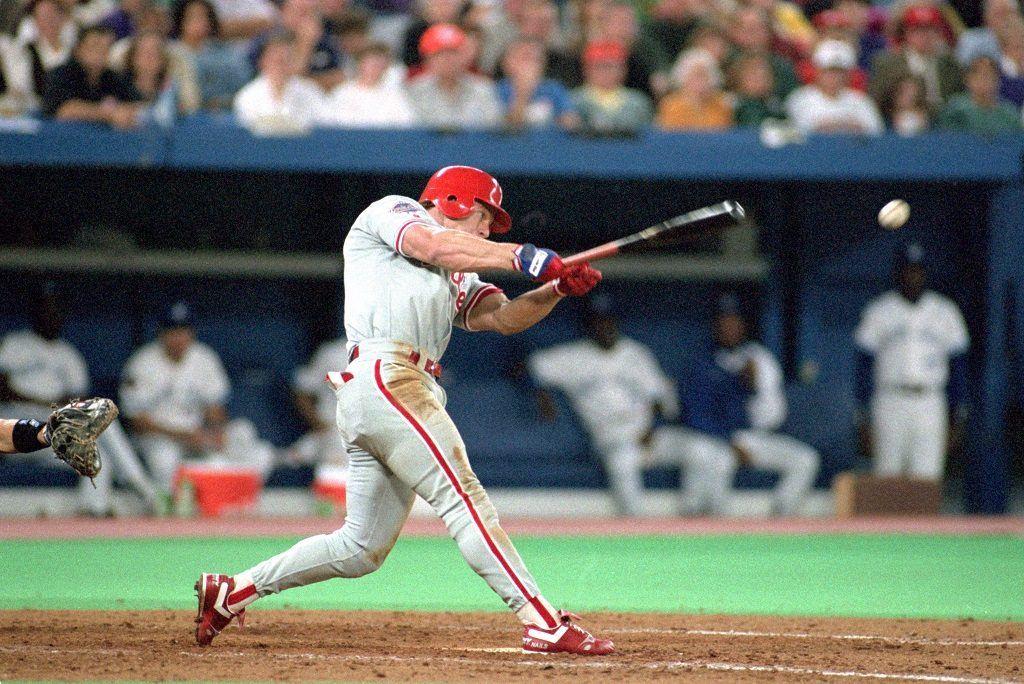 Philadelphia Phillies' outfielder Lenny Dykstra