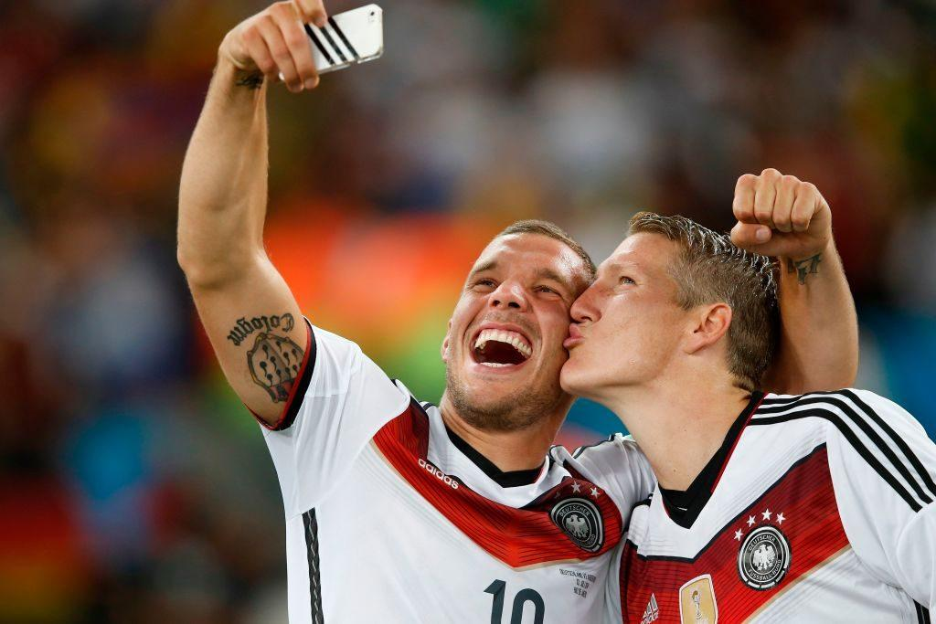 Lukas Podolski wins a World Cup with Germany