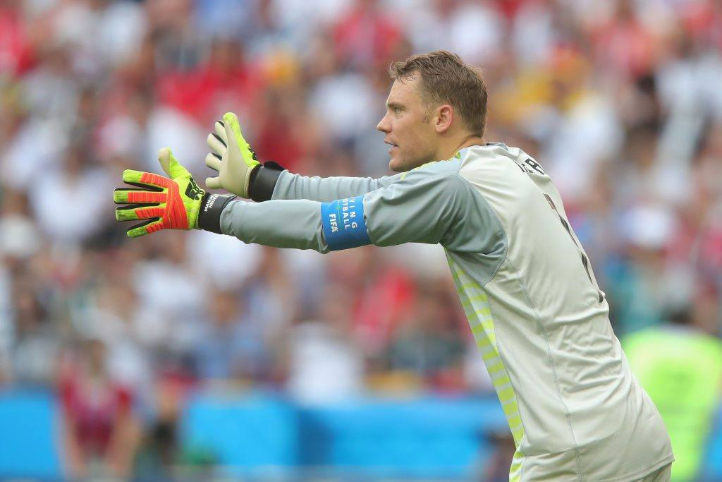 Manuel Neuer of Germany looks on during the 2018 FIFA World Cup
