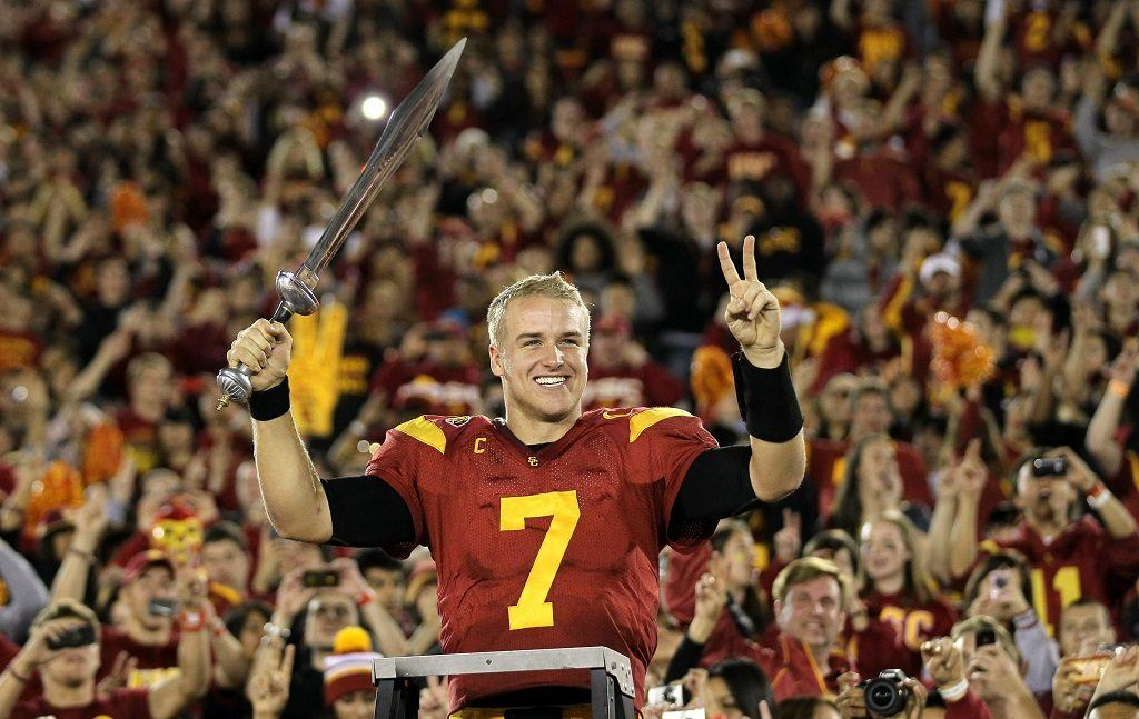 Matt Barkley with the USC Trojans