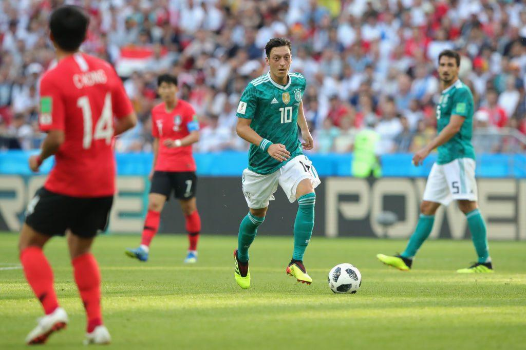 Mesut Oezil of Germany runs with the ball during the 2018 FIFA World Cup
