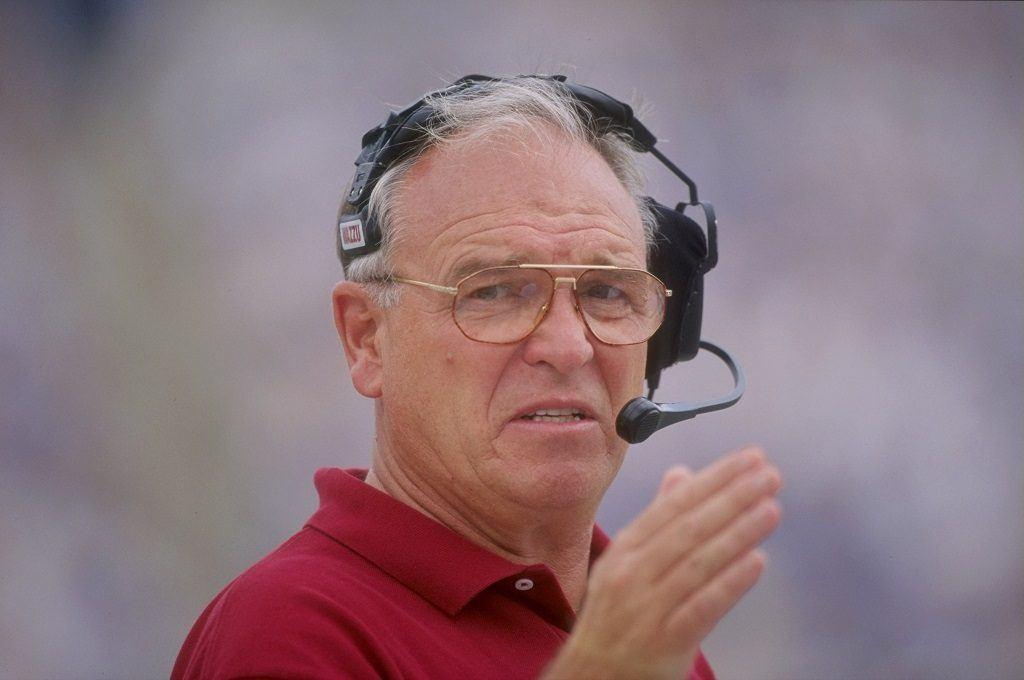 Mike Price while coaching Washington State
