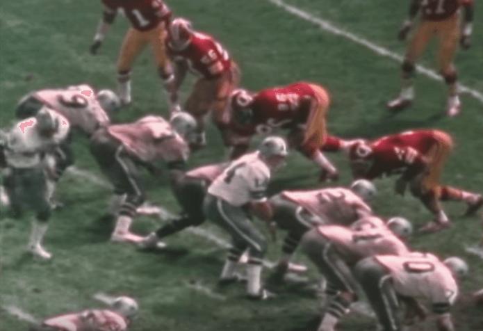 Ken Houston playing for the Washington Redskins