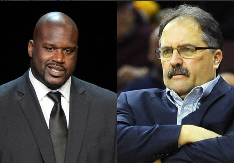 Shaquille O'Neal and Stan Van Gundy