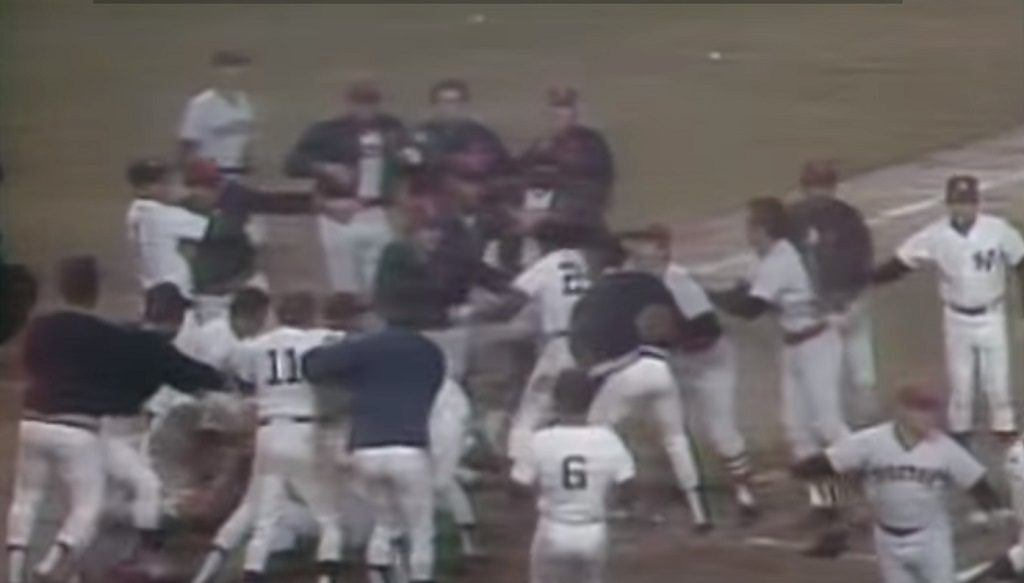 The Red Sox and Yankees cleared the benches after a collision at home plate