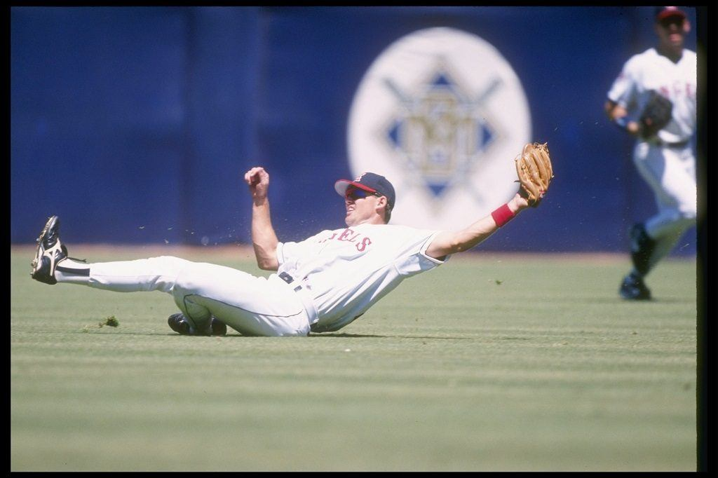 California Angels' outfielder Tim Salmon