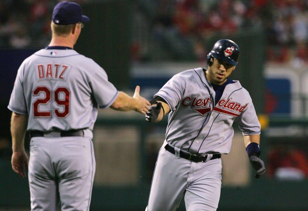 Cleveland Indians' designated hitter Travis Hafner