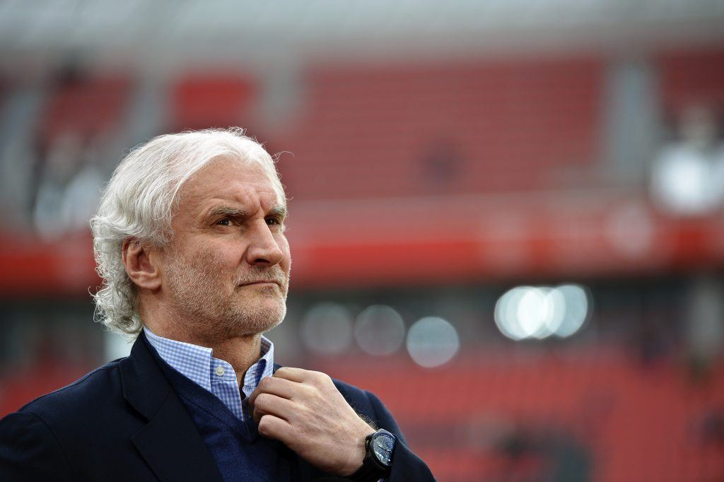 German soccer player and coach Rudi Voller
