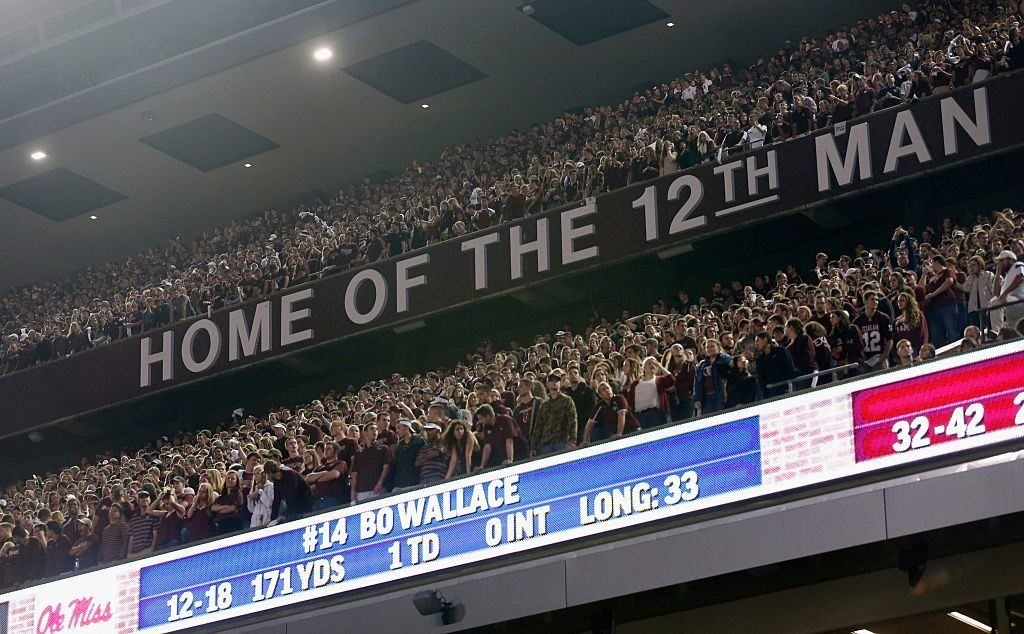 Aggies fans pack into the seats at Kyle Field