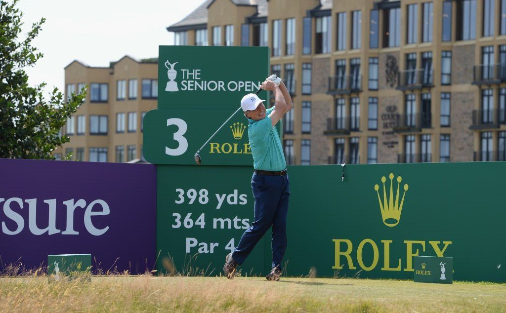 Brandel Chamblee at The Senior Championship in St. Andrews, Scotland
