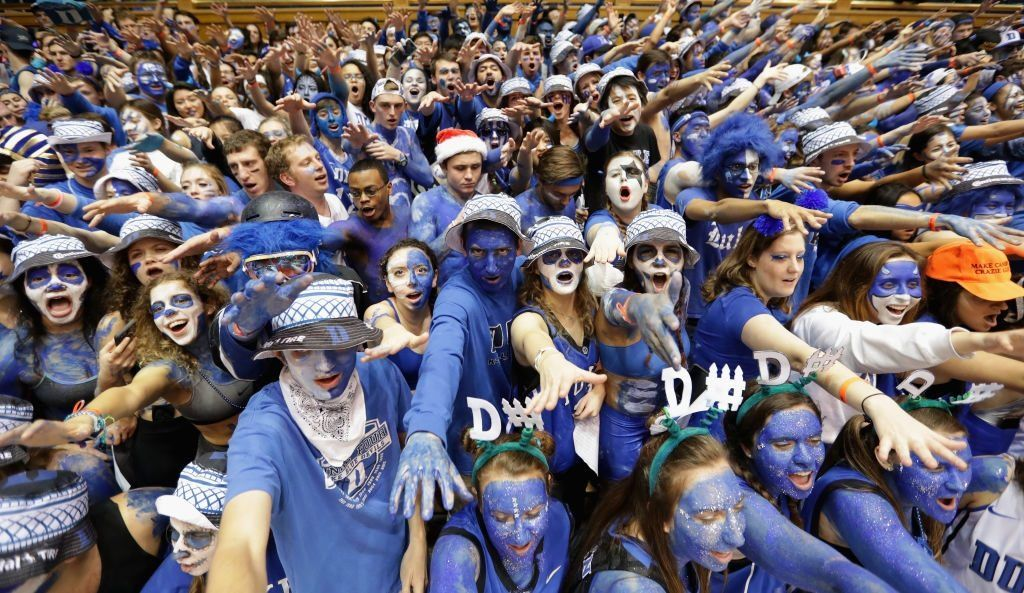 The Duke fan contingent, aka the Cameron Crazies