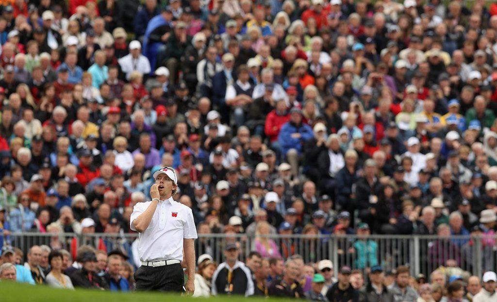 Hunter Mahan at the Ryder Cup in 2010