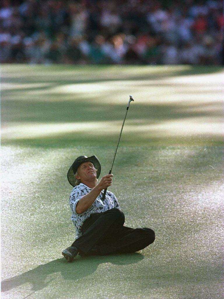 Greg Norman at The Masters in 1996