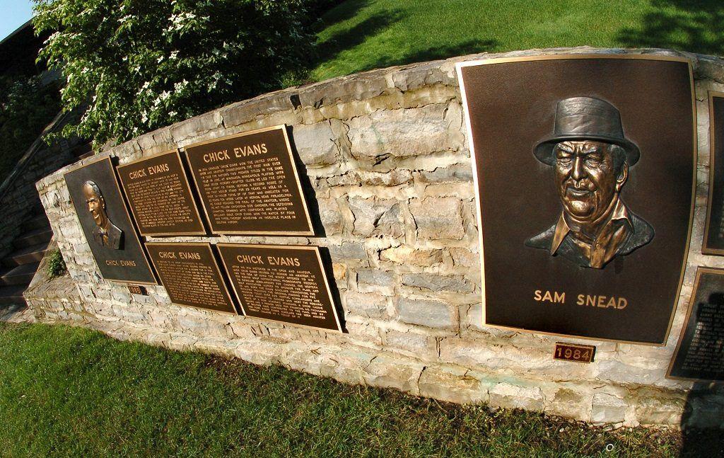 Sam Snead memorial at the Muirfield Village Golf Club in Ohio