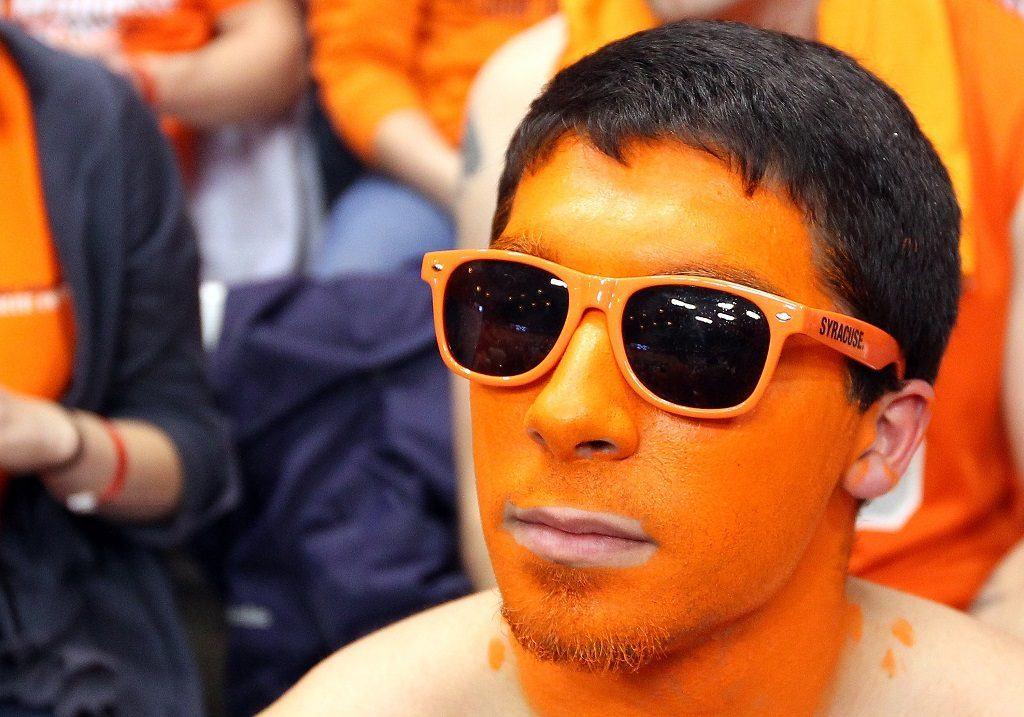 A fan of the Syracuse Orange