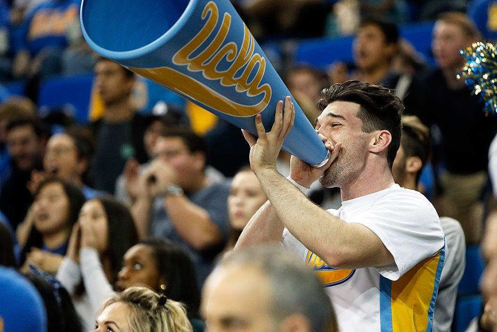 A member of the UCLA Bruins cheer squad