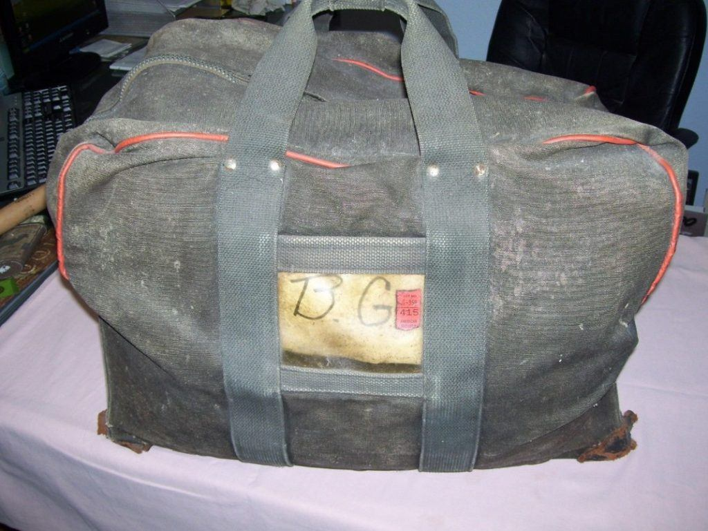 Boston Red Sox infielder Billy Goodman's game-used bag