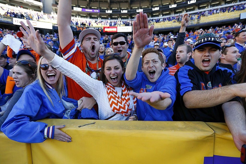 Florida fans after the Gators beat the LSU Tigers
