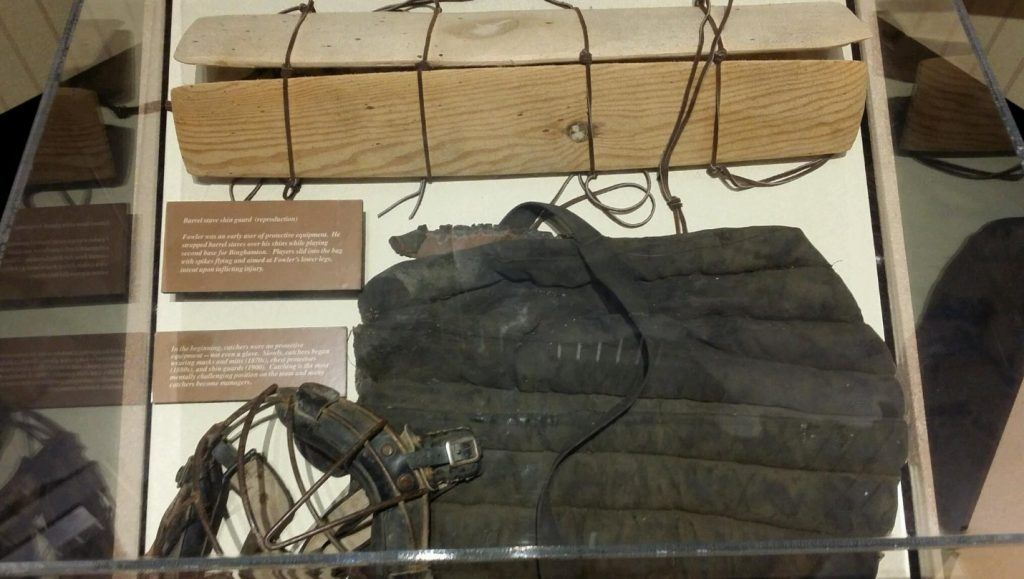 Early 1900s catchers gear, courtesy the Negro Baseball League Hall of Fame