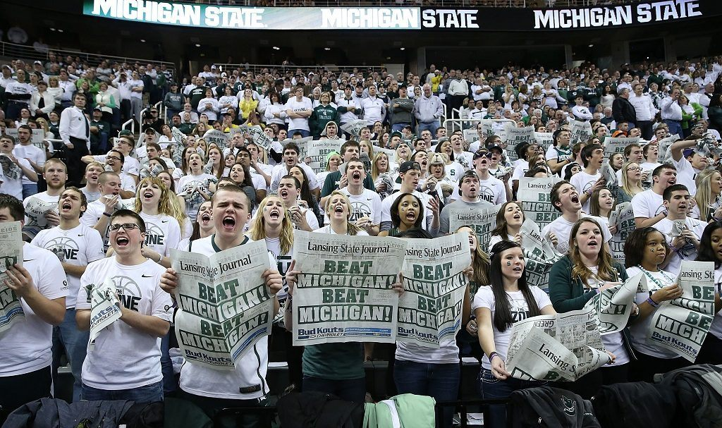 Michigan State Spartans fans prepare for a big game against rival Michigan Wolverines