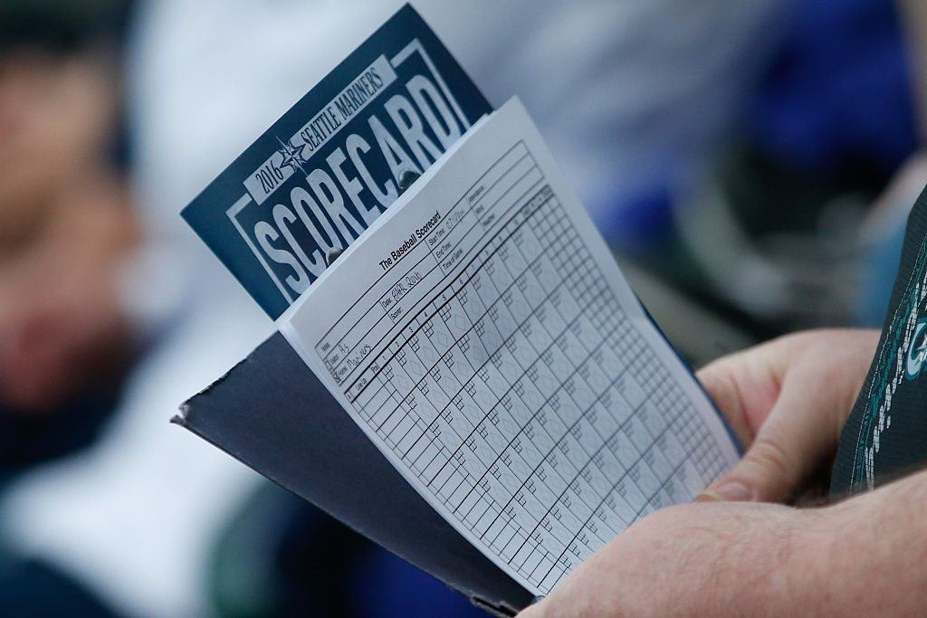 Fan scorecard for a Mariners-A's game