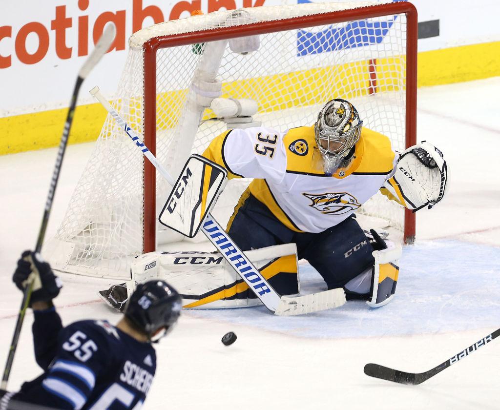 Pekka Rinne #35 of the Nashville Predators, NHL, hockey