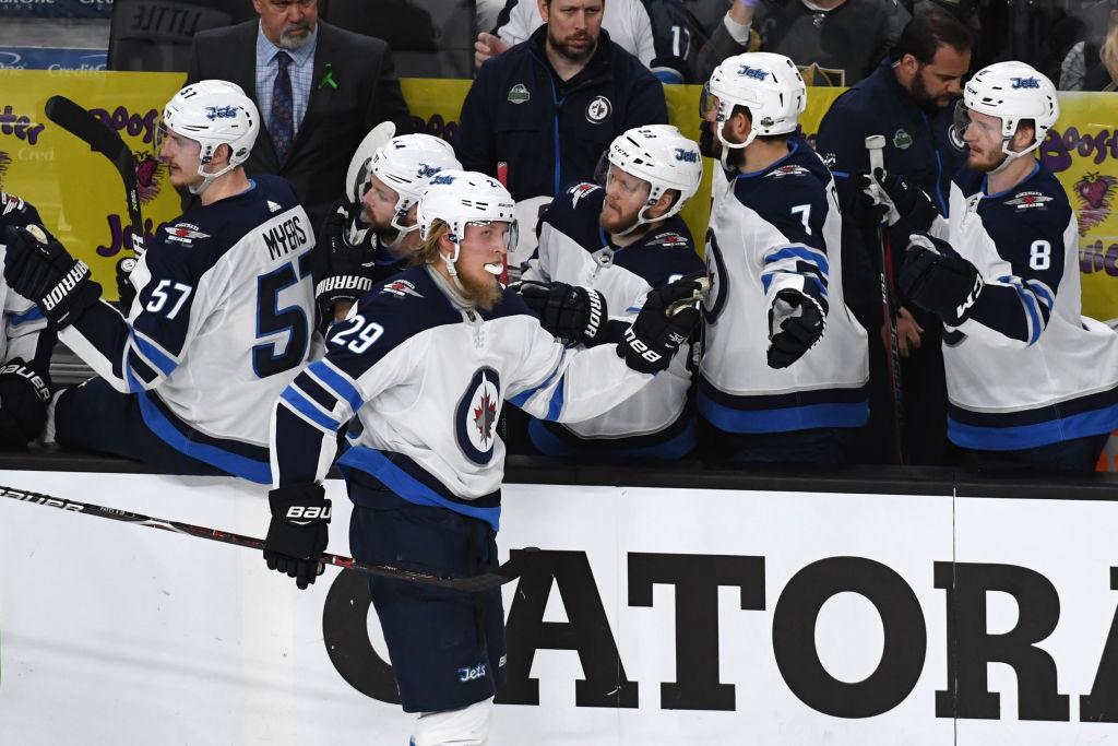 Patrik Laine #29 of the Winnipeg Jets, NHL, hockey