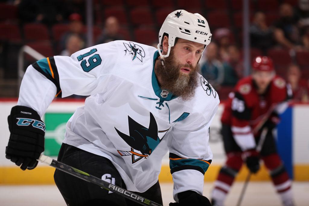 San Jose Sharks NHL hockey Joe Thornton