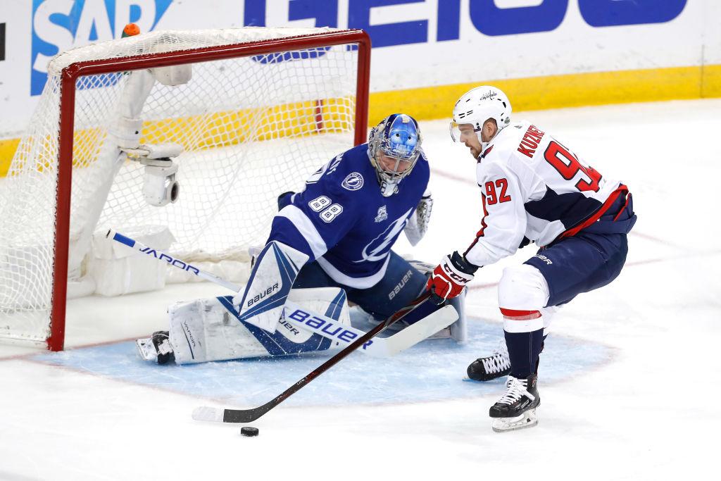 Stanley Cup matchups Evgeny Kuznetsov Washington Capitals Andrei Vasilevskiy #88 Tampa Bay Lightning
