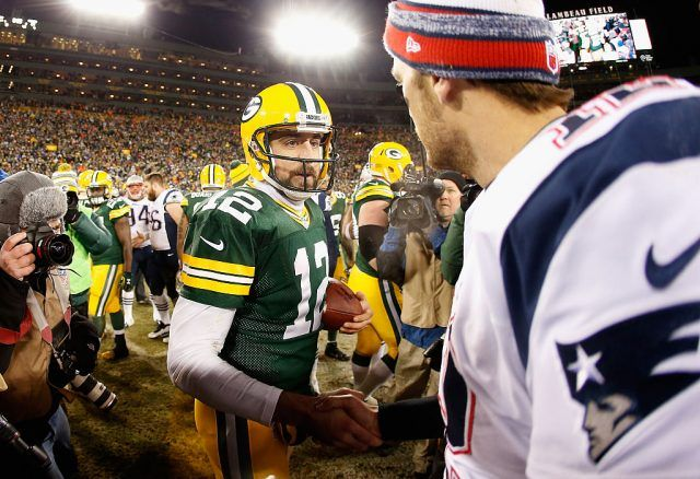 Aaron Rodgers and Tom Brady