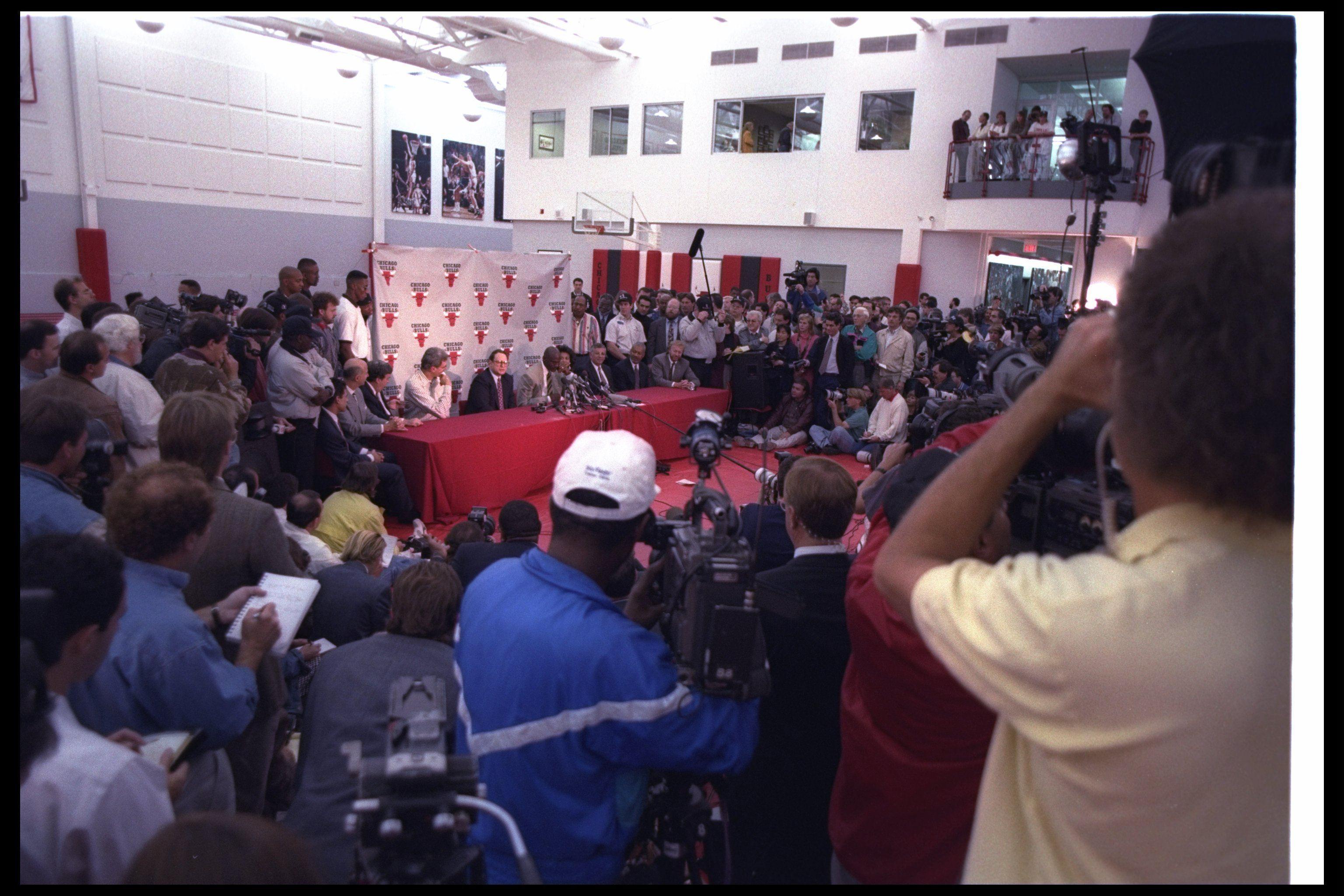 Michael Jordan Oct. 6, 1993 retirement