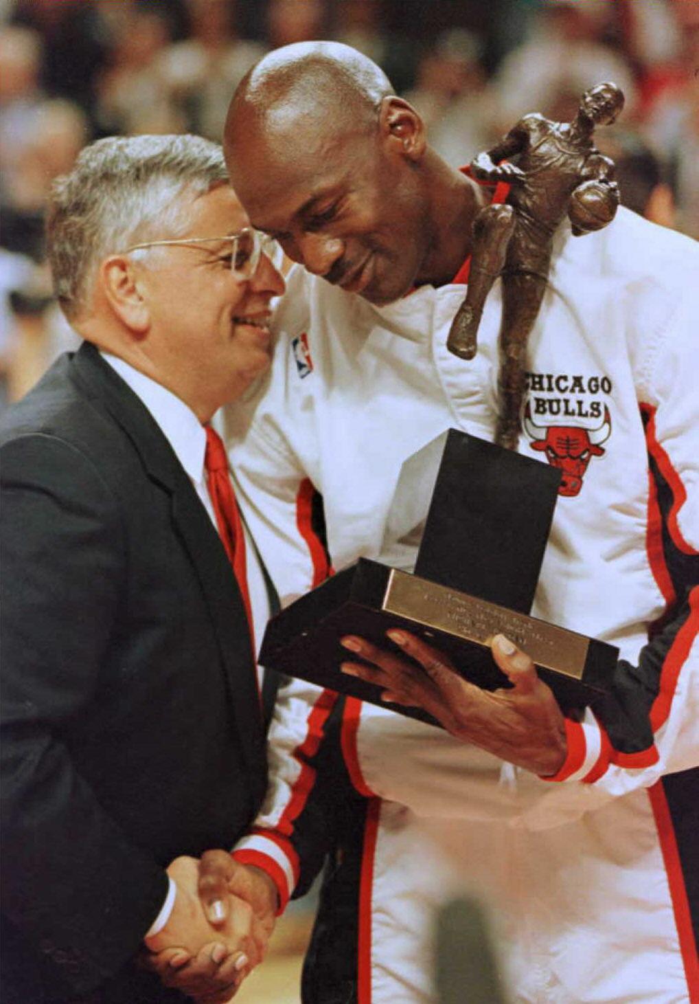 Michael Jordan 1996 NBA MVP David Stern