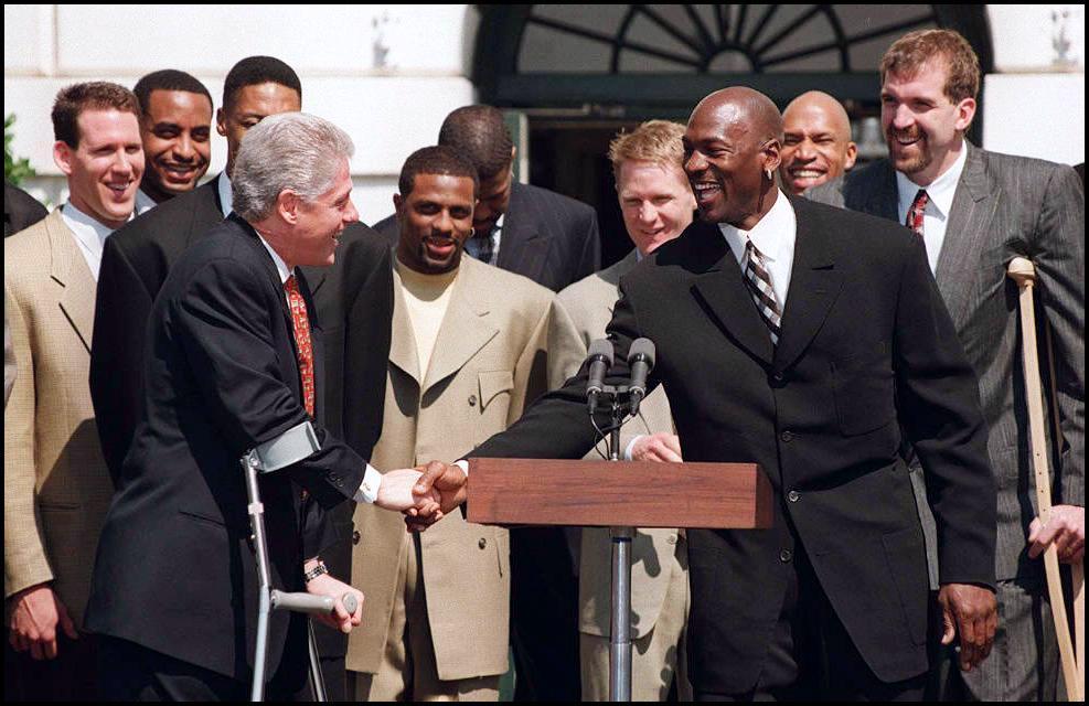 Bill Clinton Michael Joran 1997 White House visit