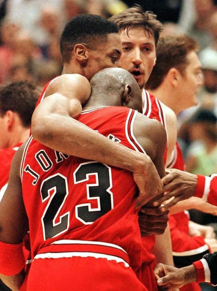 Scottie Pippen Michael Jordan flu game 1997 Finals Game 5