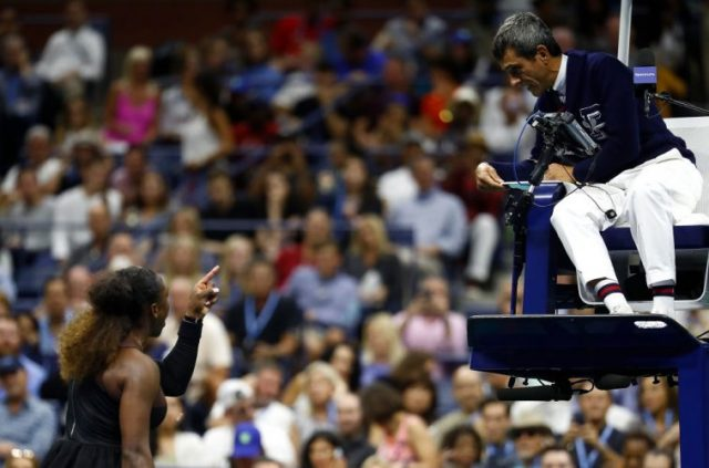 Serena Williams and Umpire Carlos Ramos