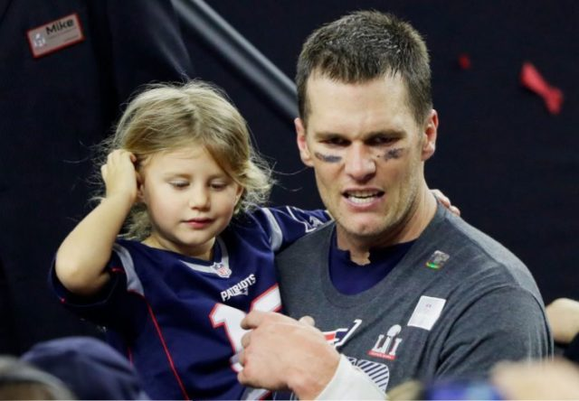 Tom Brady and his daughter, Vivian