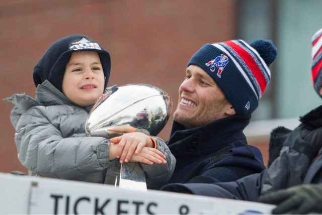 Tom Brady and his son, Benjamin Brady