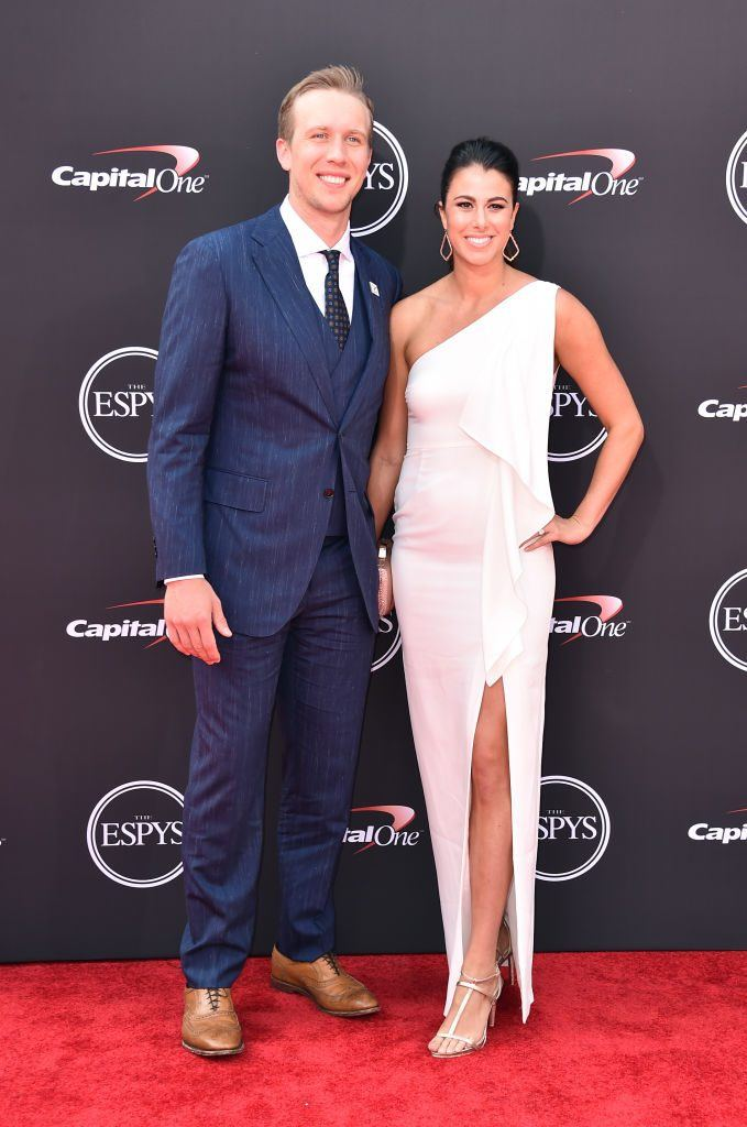 Football player Nick Foles and wife Tori attend The 2018 ESPYS